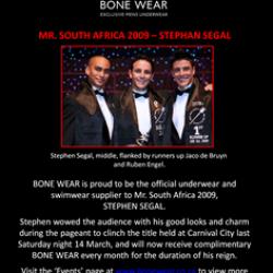 BoneWear – Mr. South Africa 2009
