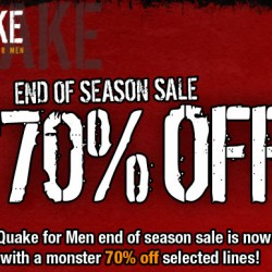 End of Season Sale at Quake for Men
