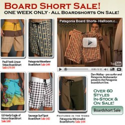 Board Shorts Sale at His Room
