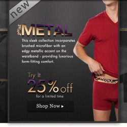 Men's Underwear Store has 2(x)ist Metal and New Diesel