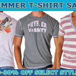 Summer T-Shirt Sale at Andrew Chrisitan