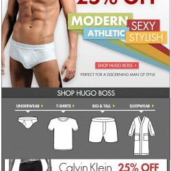 Hugo Boss 25% Off & Calvin Klein 25% Off at Freshpair