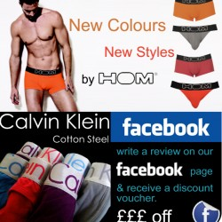 New HOM and Calvin Klein Steel at Giggleberries