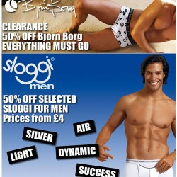 Half price clearance sale on Bjorn Borg and Sloggi at Dead Good Undies
