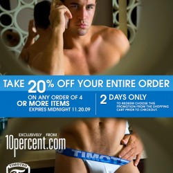 2 Days Only: Take 20% Off Your Entire Order at 10 Percent.com