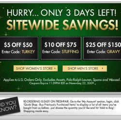 Only 3 Days Left – Freshpair Sitewide Savings