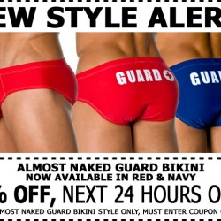 Andrew Christian New Almost Naked Guard Bikini – 24% Off 1 Day Only