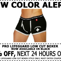 24% Off Andrew Christian Pro Lifeguard Boxer Now In Black – 1 Day Only!!!