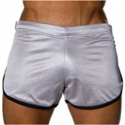 Review: Andrew Christian Retro Gym Shorts – Silver/Black