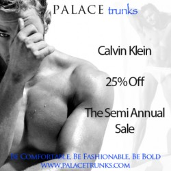 Save 25% This Fall During The Calvin Klein Sale at Palace Trunks