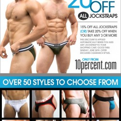 Hot New Jockstraps Up To 20% Off at 10percent.com