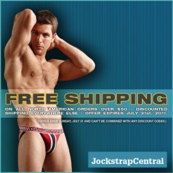 FREE AND DISCOUNTED SHIPPING AT JOCKSTRAP CENTRAL