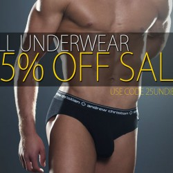 Andrew Christian Spring Event- 25% Off All Underwear