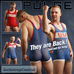 Pulse Sheer Wrestling Singlets Are Back (FOR NOW) at Jockstrap Central