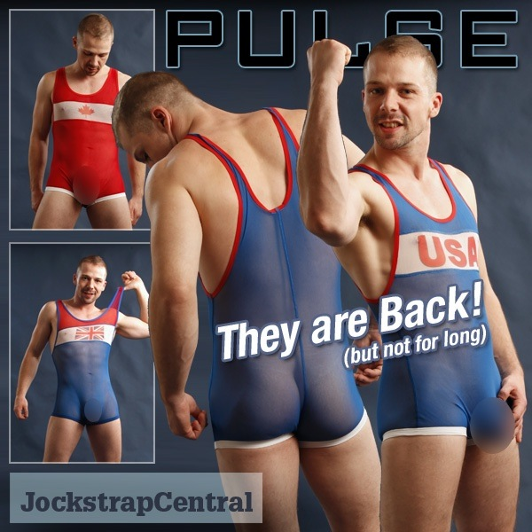 Wrestler boners singlets male in with