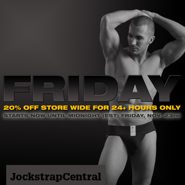 jockstrap central black friday event starts early 20 % off store