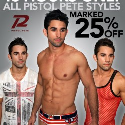 Pistol Pete 25% off for 48 hours only at 10Percent.com