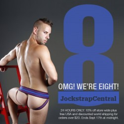 JOCKSTRAP CENTRAL TURNS 8 with 24 HOUR DOUBLE DEALS