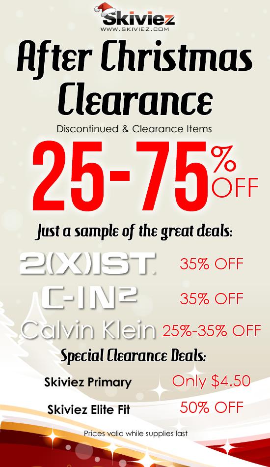 Sales brief underwear sales for dec 27 underwear news for Christmas decs sale