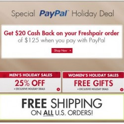 FreshPair.com – PayPal Holiday Deal