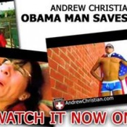 "Andrew Christian ""Obama Man Saves Sarah Palin"""