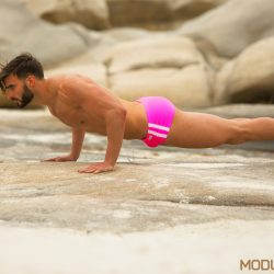 Athletic swimwear in neon colours by Modus Vivendi