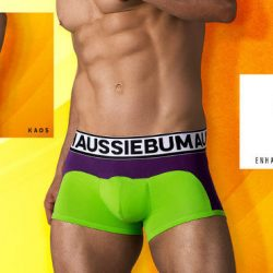 Bold Patchwork Colors: The aussieBum Kaos Boxer Briefs