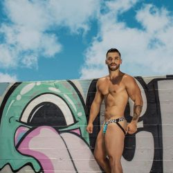 Andrew Christian brings on the wild side in pink