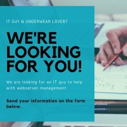 We are looking for an Underwear Loving IT Guy