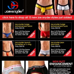 10Percent – New Enhance Underwear from Joe Snyder and Andrew Christian