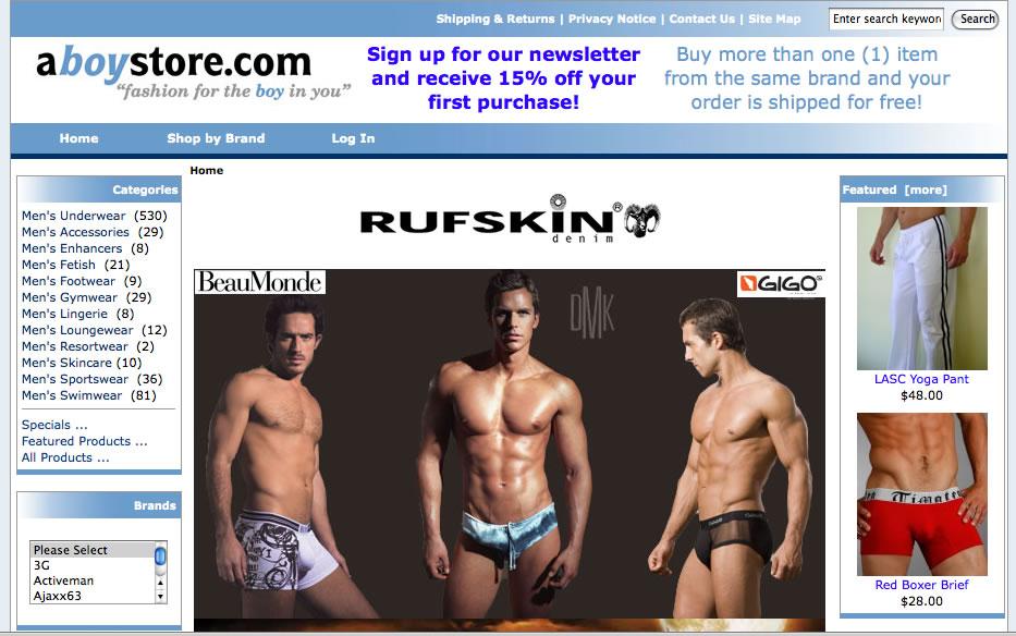 A Boy Store - New Underwear Site