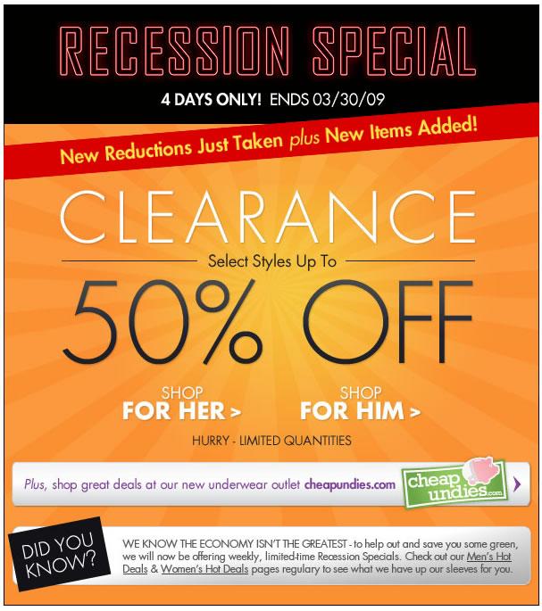 Fresh Pair - Recession Sale