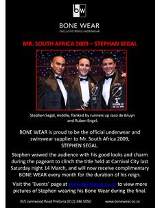 BoneWear - Mr. South Africa 2009
