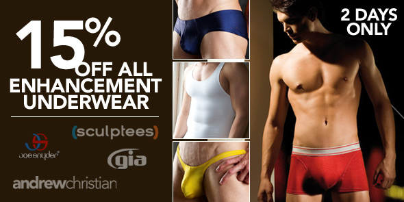 10 Percent - 15% off All Enhancement Underwear