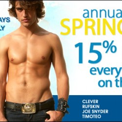 10 Percent – Annual Spring Sale