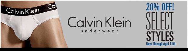 UnderGear - CK  20% off Select Styles