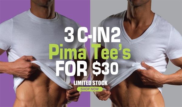 C-IN2U - 3 Pima Tee's for $30