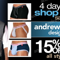 10 Percent – Andrew Christian 15% off
