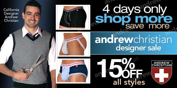 10 Percent - Andrew Christian 15% off