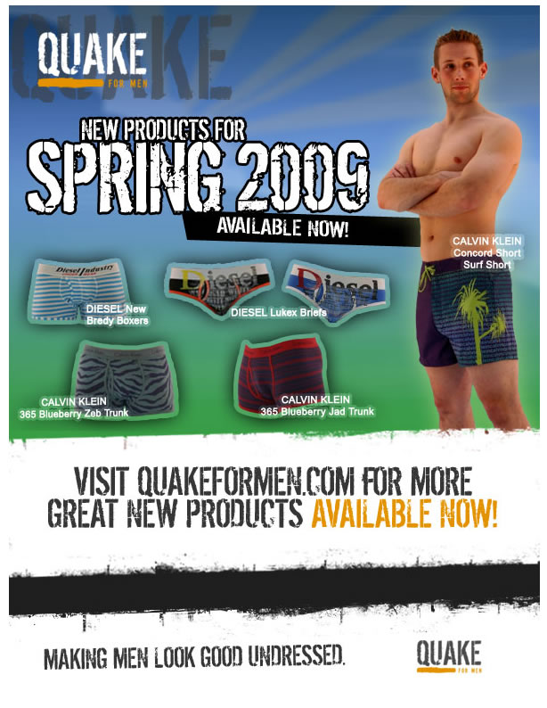 Quake For Men - New Spring Products