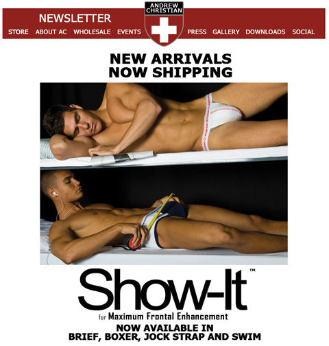 Andrew Christian New Arrivals Now Shipping: Show-It