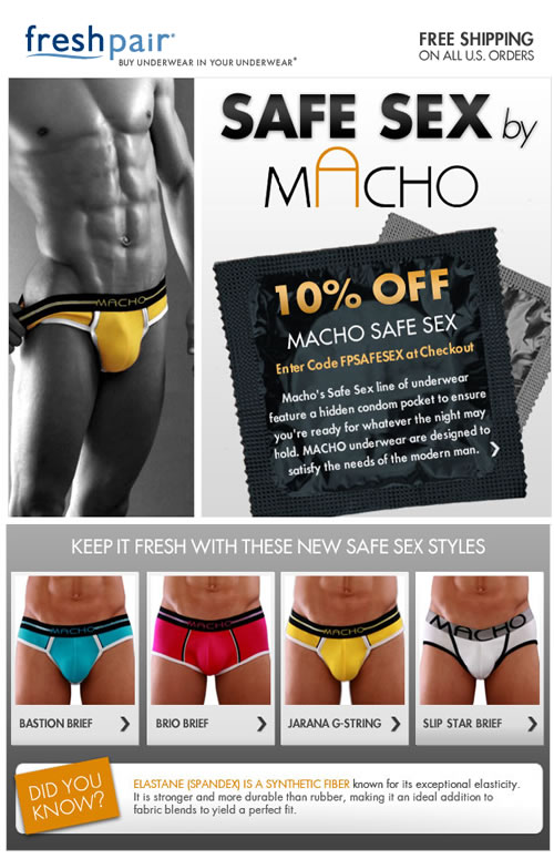 Fresh Pair - Macho Undewear Safe Sex Sale