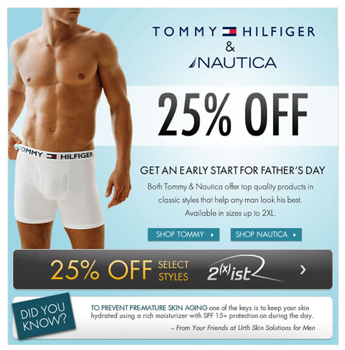 Fresh Pair - Fathers Day Sale on Tommy and Nautica