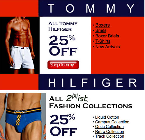 His Room - Tommy Hilfiger and 2(x)ist Sale