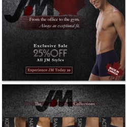 Mens' Underwear Store – 25% off all JM Styles