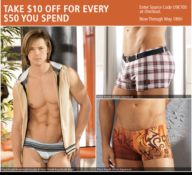 UnderGear - Take $10 off ever $50 You Spend
