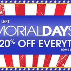 10 Percent – Memorial Day Sale