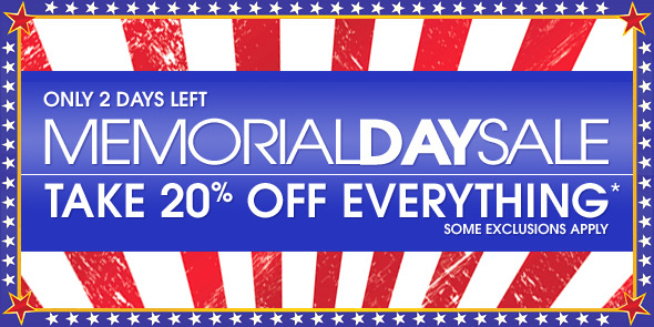 10 Percent - Memorial Day Sale
