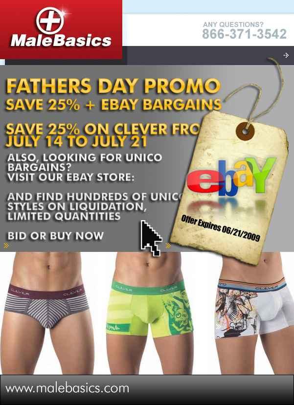 Male Basics - Fathers Day Promo!