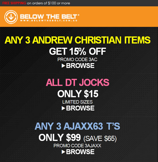 Below the Belt - Andrew Christian, DT and AJAXX63